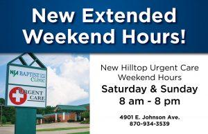 Extended uregent care hours
