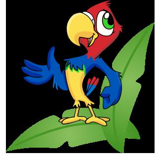 parrot-frame